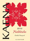 2016 Nebbiolo Estelle Vineyard